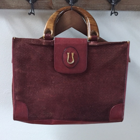 Caggiano Handbags - Anthony Caggiano Italian Suede tote with 24k gold